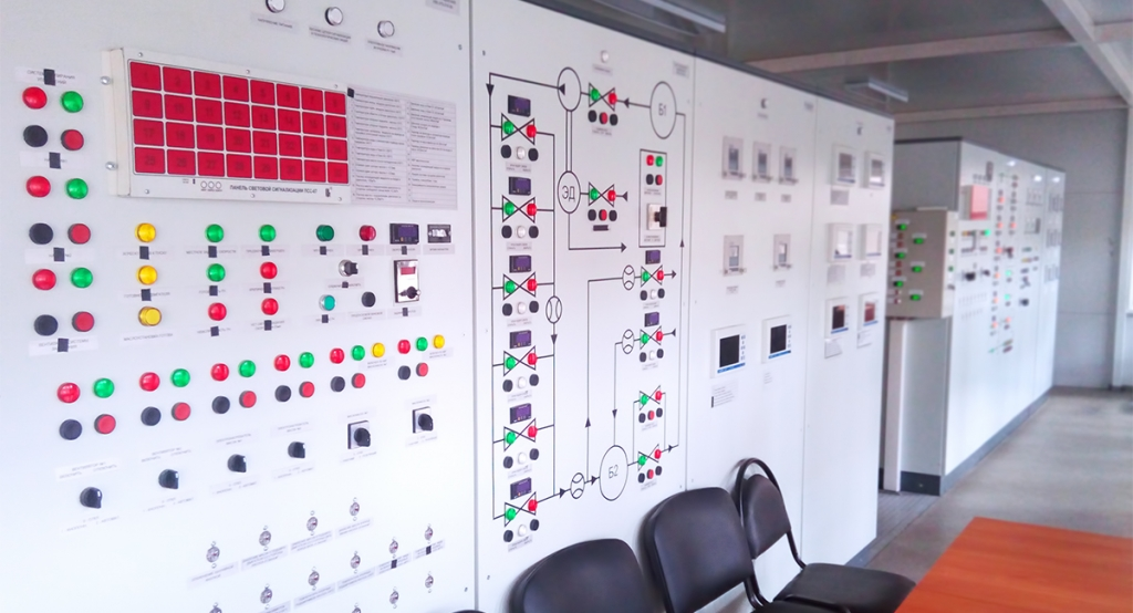 Control board for monitoring of benches intended to test dynamic pumps of NM, NPB, NMB and electric pump units